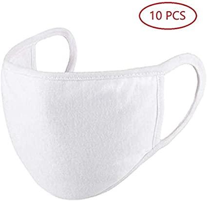 #N/A 10 Pezzi di per Bocca Lavabile Riutilizzabile Carino Moda Cotone Freddo Anti-Polvere Bianco