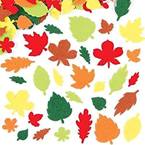 Baker Ross Adesivi di Feltro a forma di Foglia (confezione da 144) perfetti per bambini per decorare collage e lavoretti, ideali per la scuola, lavorazioni di gruppo e a casa