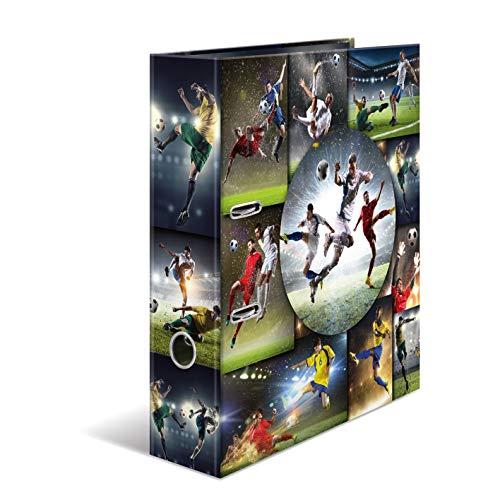 HERMA Registratore a leva con anelli Sport con motivo Calcio, A4, dorso 7 cm, cartonato, colori