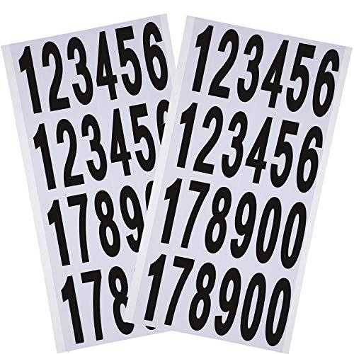 Outus 10 Fogli Numeri Adesivi Numeri Autoadesivi di Cassetta Postale Numeri in Vinile per Insegne di Residenza e Cassetta Postale (3 Pollice)