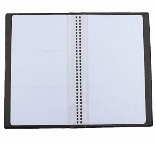 Clafund Business Journal Name Card Book Holder Organizer Porta biglietti da visita Nero 240 Biglietti da visita