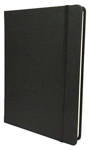 Collins Legacy - Quaderno a righe con copertina rigida, formato A4, 240pagine 80gsm, colore copertina:nero