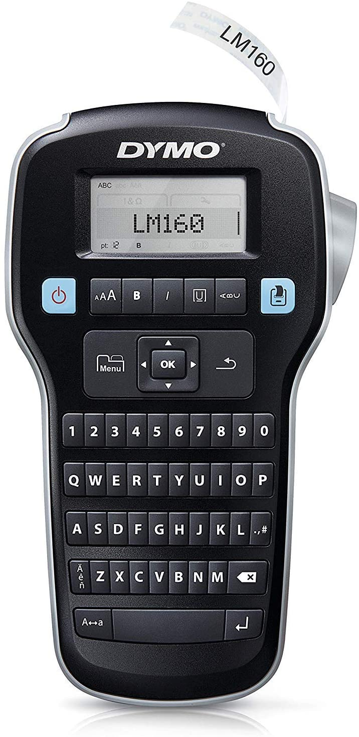 DYMO LabelManager 160 Thermal transfer 180 x 180DPI label printer - Label Printers (Thermal transfer, 180 x 180 DPI, 12 mm/sec, LCD, 1.2 cm, 6, 9, 12)