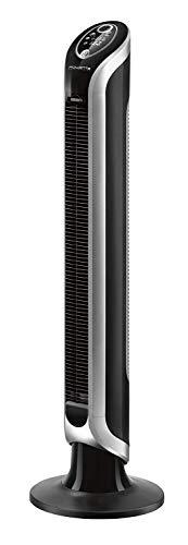 Rowenta VU6670 Ventilatore a Torre, Timer Fino a 8 Ore, 3 velocità, Telecomando, Spegnimento Automatico, Nero