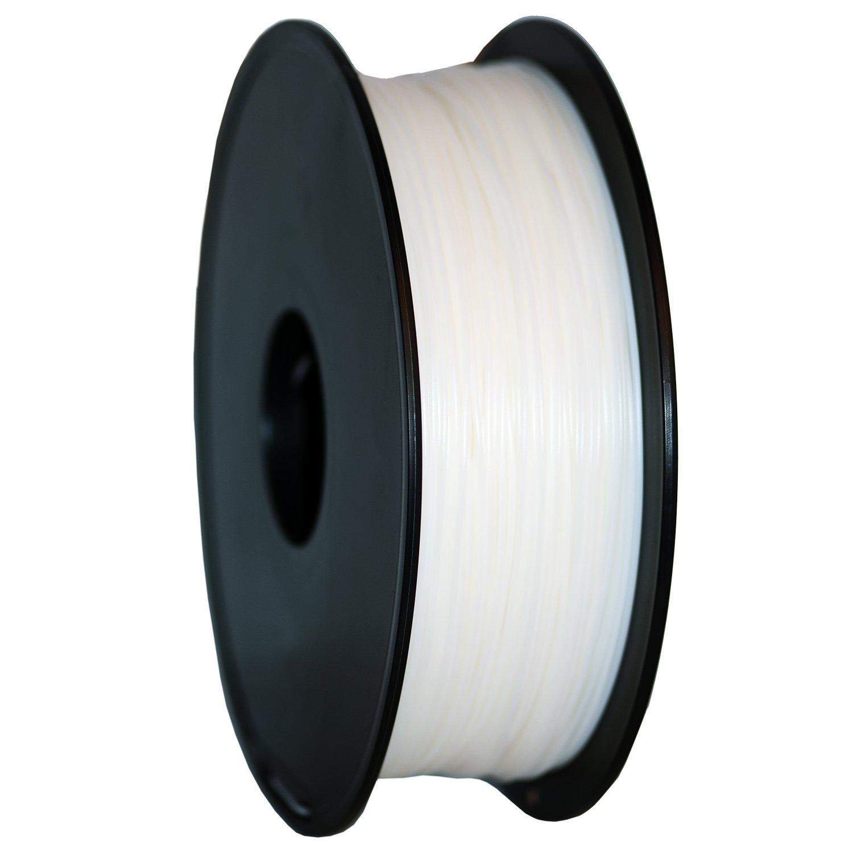 GEEETECH Filamento PLA 1.75mm 1kg Spool per Stampante 3D, Bianco
