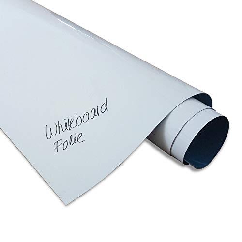 DIN A1 Pellicola ferrosa adesiva per lavagna Magstick® I superficie adesiva per magneti I XL pellicola ferrosa bianca, scrivibile, lavabile I mag_085