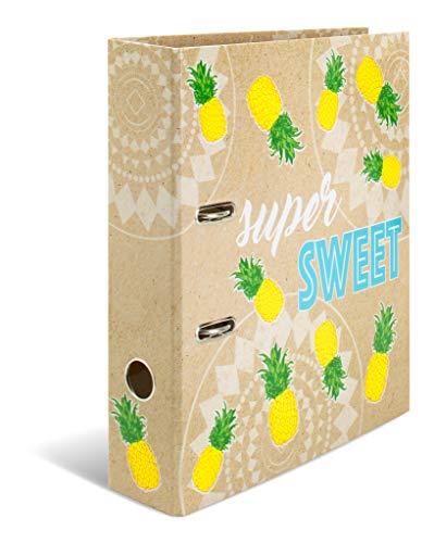 HERMA Registratore a leva con anelli Tropical con motivo Sweet Pineapple, A4, dorso 7 cm, cartonato, colori