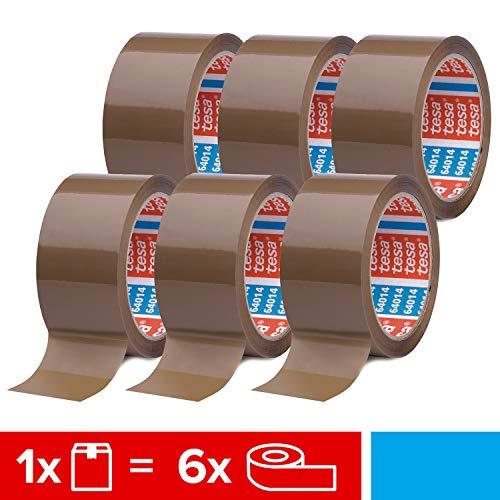 Tesa 64014 6 rotoli di nastro adesivo per pacchi, 66 m, 50 mm, colore: marrone