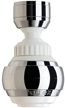 Siroflex Saturn Aereatore 2525/50S, Made in Italy, Rompigetto per rubinetto cucina doppio snodo, ghiera in ottone, Aeratore Rubinetto, doccetta per lavandino, Rompigetto Rubinetto, Risparmio d'Acqua