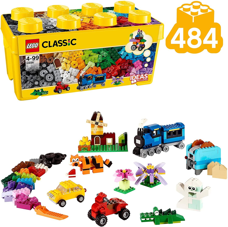 LEGO Classic Scatola Mattoncini Creativi Media per Liberare la Fantasia e Costruire Quello che Desideri, 35 Colori per Realizzare tutte le Tue Idee, per Bambini dai 4 Anni, 10696