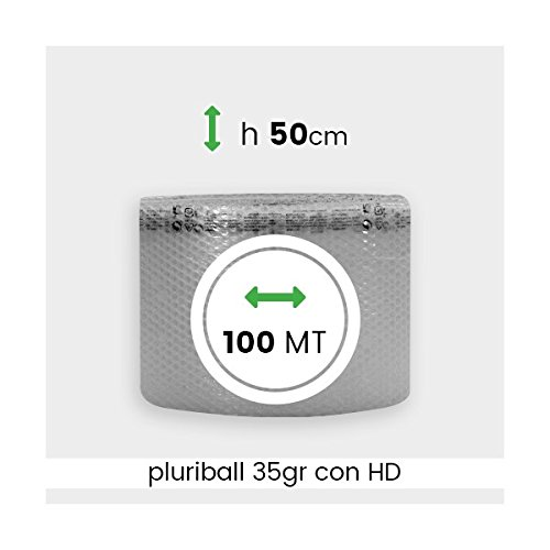 IMBALLAGGIPER ROTOLO PLURIBALL ECONOMICO ALTEZZA 50 CM 100 MTL PLU011B BOLLE ARIA