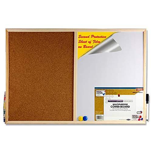 Premier cancelleria 56588ufficio multiuso Combi Board con pennarello cancellabile