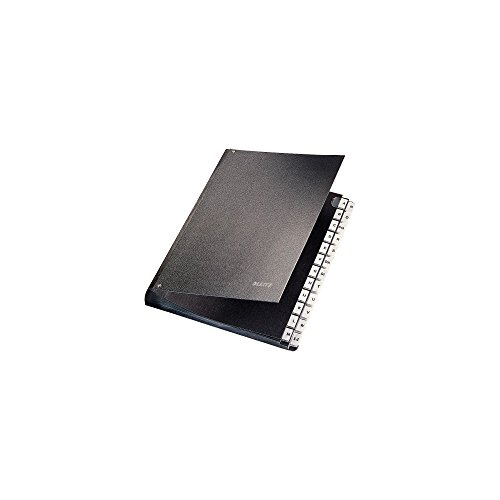 LEITZ Libro Monitore alfabetico in cartone A-Z scomparti - Nero - 58240195