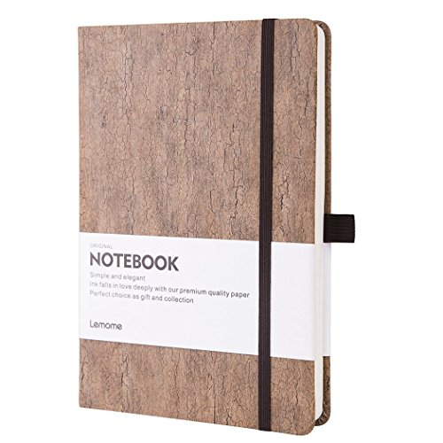 Dotted Journal / Taccuino Puntos- Lemome Notebook a Griglia in Fibra di Vetro Naturale con Copertina Rigida a Prova di Eco con Penna Loop, Premium Dotted Notebook Rilegato A5