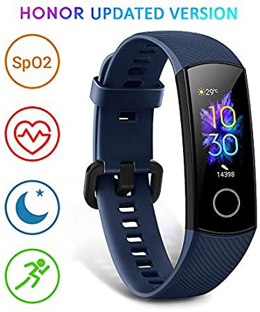 HONOR Band 5 Activity Tracker, Uomo Donna Smartwatch Orologio Fitness Cardiofrequenzimetro da Polso Impermeabile Smart Watch 0.95 Pollice Schermo a Colori,Blu