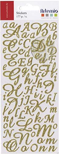 con 177 Pezzi Alfabeto Disegno Artemio, Oro