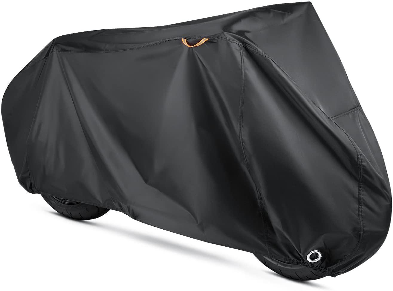 Telo protettivo per moto Beeway®, in nylon 190T impermeabile, contro pioggia, polvere e raggi UV. Telo per esterni e interni, con occhielli di sicurezza –XL 240cm