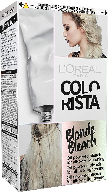 L'Oréal Paris Colorista Blonde Bleach Decolorazione ad Olio per una Schiaritura Completa