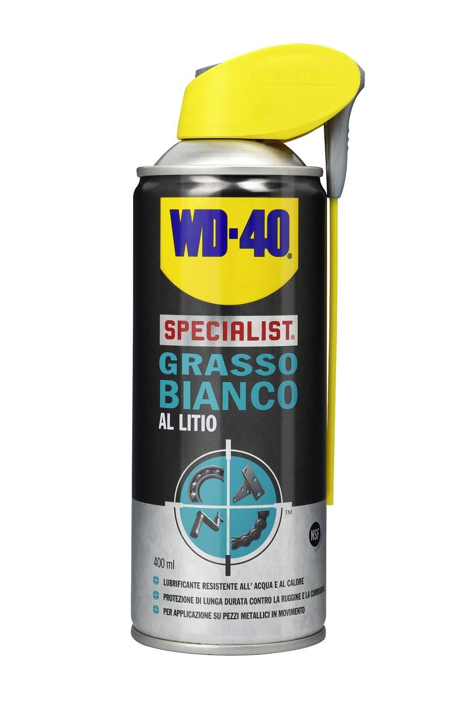 WD-40 Specialist Grasso bianco al litio spray con doppia posizione, 400 ml
