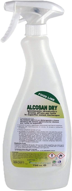 Alcosandry® Detergente Igienizzante idroalcolico per pulizia rapida superifici e attrezzature. Protocollo HACCP - Deterdem Shop