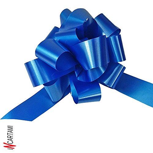 BOLIS Coccarde Autotiranti, Blu, 3 cm