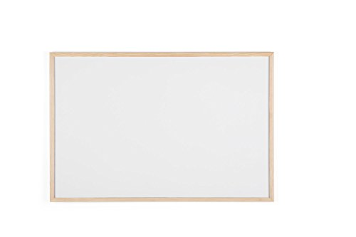 Bi-Office MP07001010 Budget - Lavagna con Cornice In Legno, 900 x 600 mm, Bianco