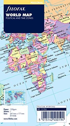 Filofax 131904 mappa geografica da parete