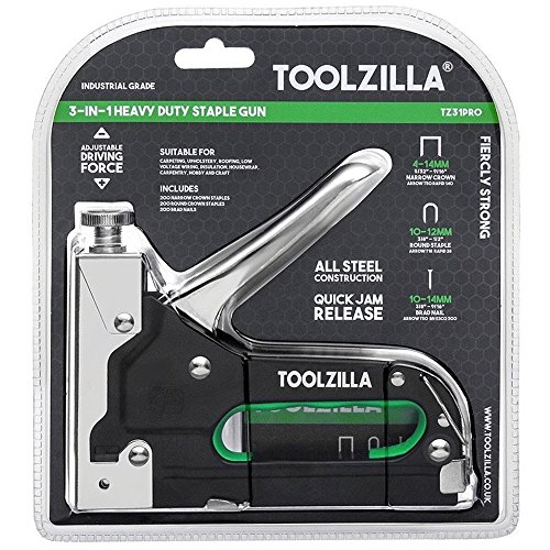 TOOLZILLA Graffatrice Manuale e 600 Punti Assortiti