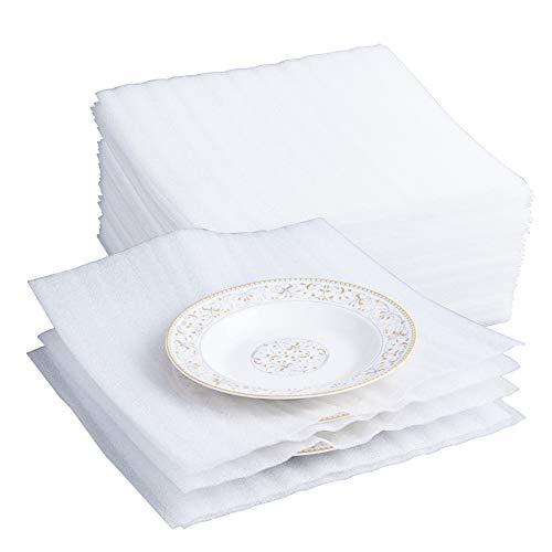 Belinlen - Confezione da 75 fogli in schiuma per cuscini, 30,5 x 30,5 cm, per traslochi, spedizioni, imballaggi, conservazione sicura per bicchieri, piatti, porcellana, mobili (2 mm di spessore)
