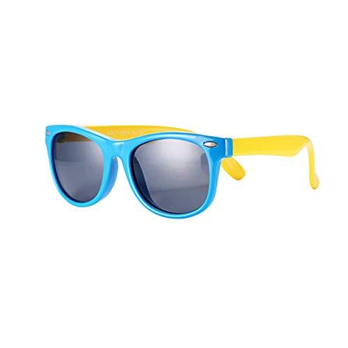 FOURCHEN Occhiali da sole per bambini, Kids Occhiali da sole in gomma flessibile Occhiali da sole polarizzati per bambini, Occhiali da sole a prova di UV al 100% per ragazze/ragazzi, Occhiali da sol