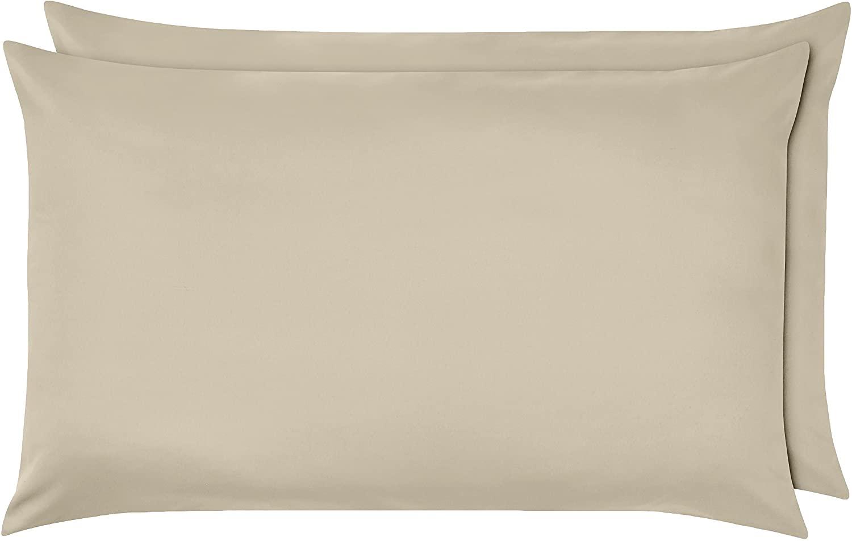 AmazonBasics - Federe in microfibra, 50 x 80 cm, Set di due - Beige