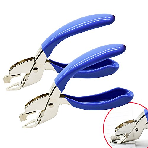 Yuekui, levapunti metallici, per l'uso a casa, a scuola, in ospedale, in ufficio,2 pezzi, colore blu