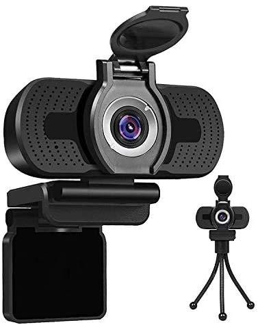 LarmTek Webcam USB 1080p,Webcam per pc,Desktop,Laptop,Webcam Streaming Microfono Incorporato,videochiamata Plug And Play Videocamera per Computer,Videocamera per Computer per Giochi e conferenze