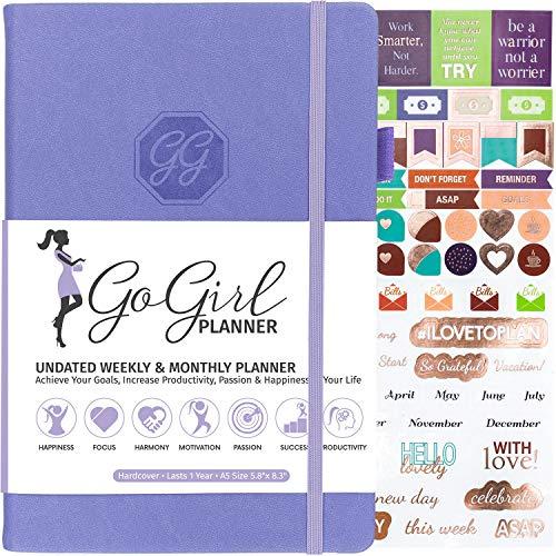 GoGirl Planner - Goal Planner & Organizer for Women - Undated (Lavanda (senza date), A5 (14.2 x 21cm))