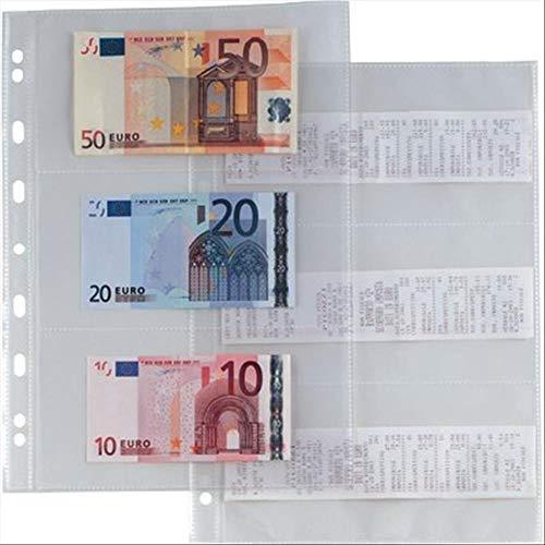 5 confezioni da 10 Sei Rota 662217 Busta Porta Banconote e Scontrini Fiscali