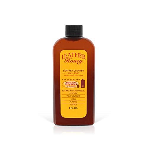 Leather Honey - Leather Cleaner, detergente per pelle: Il miglior detergente per abbigliamento in vinile e pelle, mobili, interni auto, scarpe e accessori.