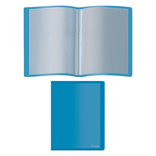 DOHE 91393 - Cartella con 40 buste, polipropilene, A4, colore blu, 40 fundas