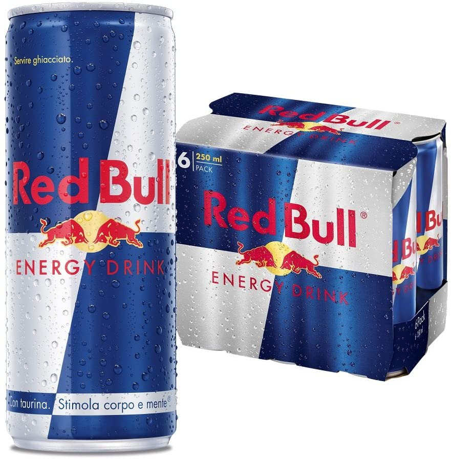 Red Bull Energy Drink, 250 ml (6 Lattine)