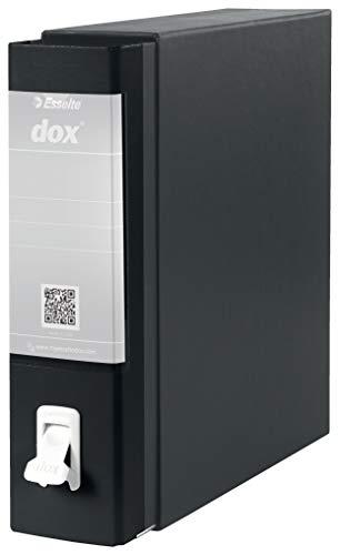Esselte Dox 1 Raccoglitore a Leva Formato Commerciale D8, A4,  Nero,  1 Pezzo