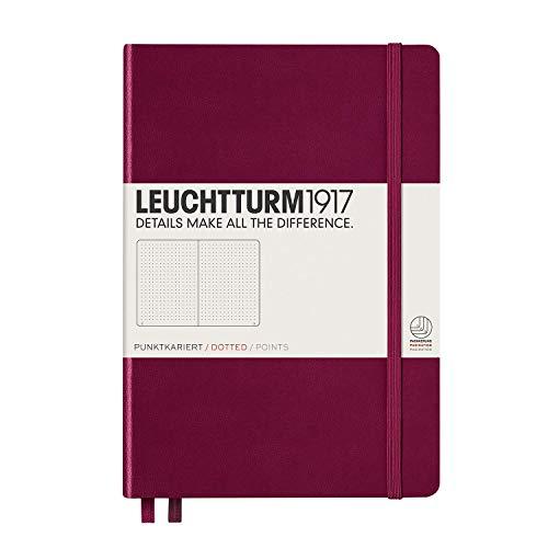 Leuchtturm1917 - Quaderno con copertina rigida, fogli puntinati, formato A5, colore: Rosso porto