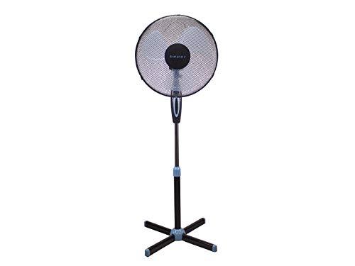 Beper P206VEN100 – Ventilatore a Piantana Nero, 3 Pale, 3 Velocità, Diametro 40 cm, Oscillazione, Black Stand Fan