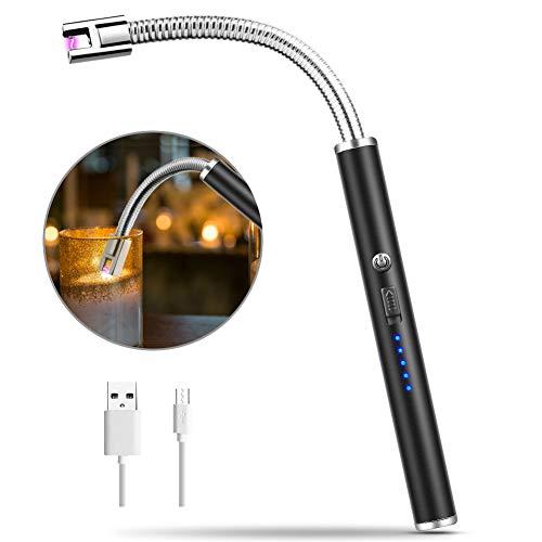 MOSUO Accendino Elettrico USB,ArcoElettrico Accendino da Cucina Accendigas Elettrico Ricaricabile con Cavo USB, Collo Lungo e 360º Flessibile Accendino Lungo per Accendere Candele,Stufe, Barbecue