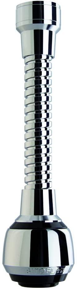 Siroflex Milady Aeratore Rubinetto 2510/S, Made in Italy, Rompigetto per rubinetto cucina cannuccia flessibile in ottone cromato nero, doccetta per lavandino, Rompigetto Rubinetto, Risparmio d'Acqua