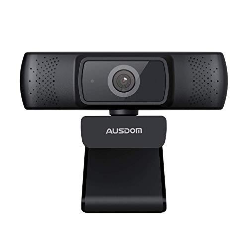 Business Webcam per PC, AUSDOM AF640 Full HD 1080p/30fps Videochiamata, Autofocus Web Camera con Microfono, Campo Visivo 90° per Desktop/Laptop/Mac, Funziona con Skype, Zoom, WebEx, Lync