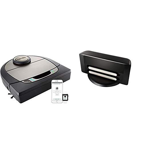 Neato Robotics D750 Premium Pet Edition - Compatibile con Alexa - Robot aspirapolvere con stazione di ricarica, Vita della batteria: 120 min, Wi-Fi & App + Base di ricarica