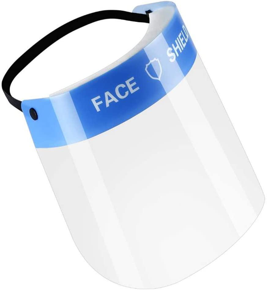 Veperain Visiera Protettiva, Maschera Protettiva Trasparente Antigoccia Con Protezione Antipolvere,Protettiva Trasparente in PET Protezione antiappannamento a Prova di Saliva per la Cucina di casa