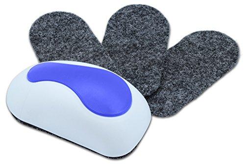NEKAVA cancellino lavagna con 3 feltri di sostituzione pulisce whiteboard, lavagne magnetiche, flipchart, lavagne a gesso e lavagne memo, feltri rimuovibili e autoadesivi garantiscono un uso duraturo