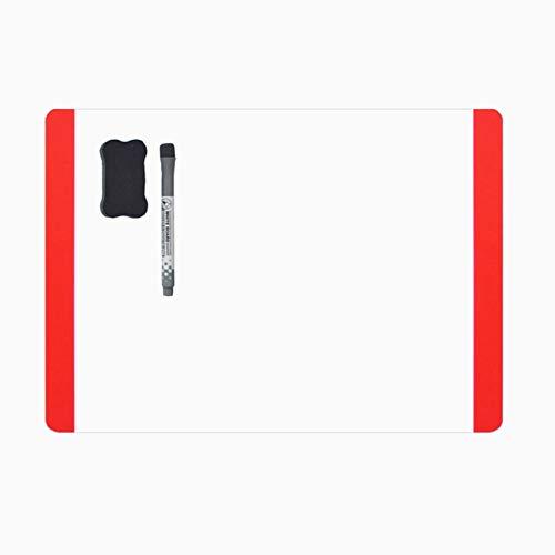 Villexun lavagnetta bianca magnetica lavagna frigorifero note flessibile grande calendario lavagna magnetica foglio lavagnetta lavagna con pennarello per lavagna magnetica(ampio Side) (rosso)