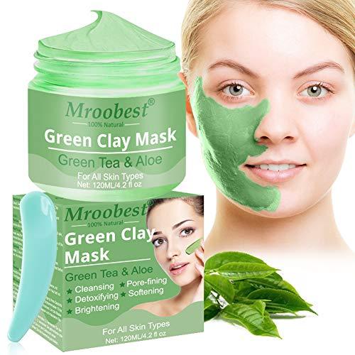 Maschera Peel Off, Deep Cleansing Mask, Green Clay Mask, Ldrata e controlla il sebo, La rimozione dell'acne e il dispositivo di rimozione dei punti neri, Migliora la struttura della pelle