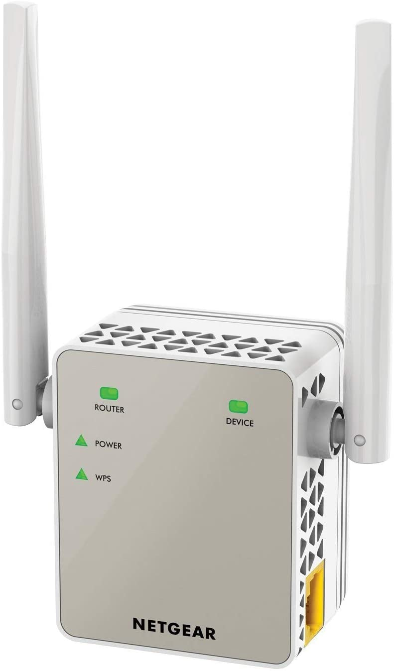 Netgear EX6120 Ripetitore Wi-Fi AC1200, Wi-Fi Extender e Access Point Dual Band, Porta Lan, Amplificatore Compatibile con Modem Fibra e ADSL